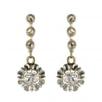 Boucles d\'oreilles pendantes diamants