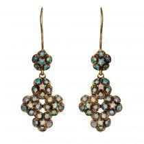 Boucles d\'oreilles pendantes opales