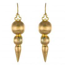 Boucles d\'oreilles pendantes or