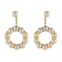 Boucles d\'oreilles pendants perles