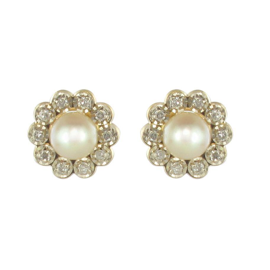Nouvelles Arrivées sélectionner pour le dédouanement sortie de gros Boucles d'oreilles perle diamants puces