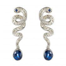Boucles d\'oreilles Saphirs et Diamants
