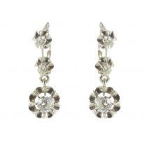 Boucles d\'oreilles trembleuses 3 diamants