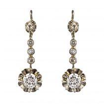 Boucles d\'oreilles trembleuses diamants