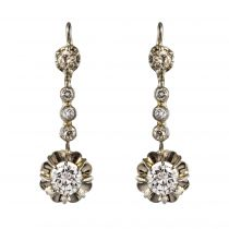 Boucles d\'oreilles trembleuses diamants