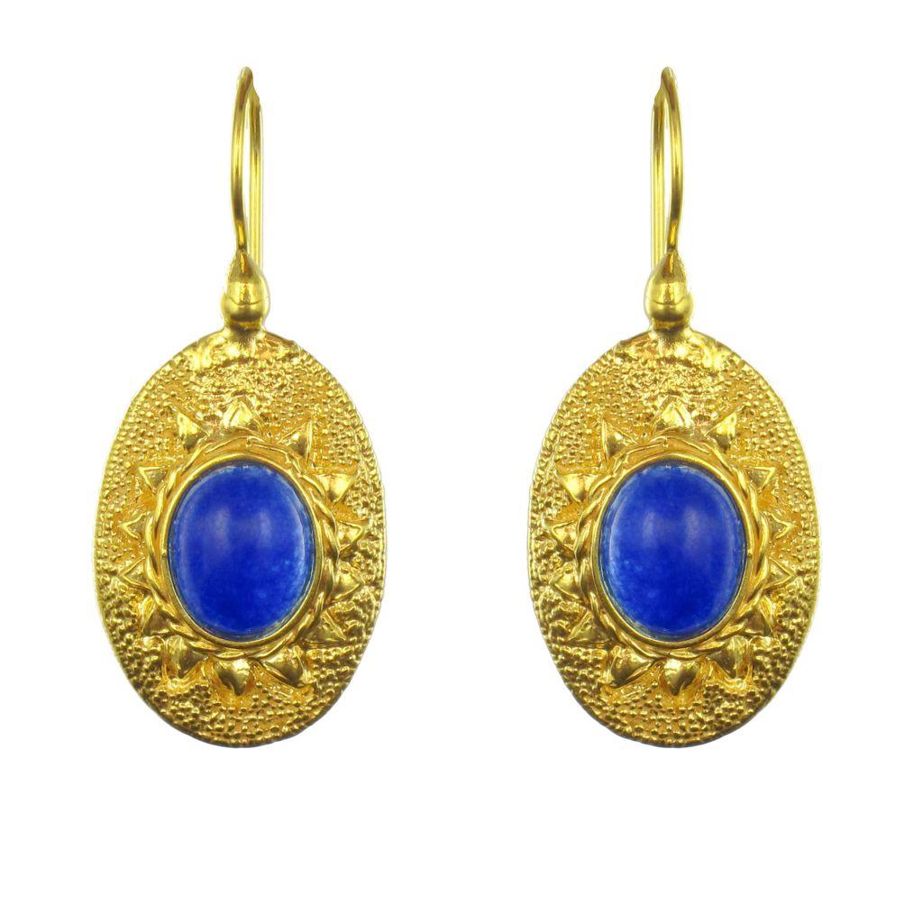 boucles d 39 oreilles dormeuses fantaisie vermeil et pierre bleue bijouxbaume. Black Bedroom Furniture Sets. Home Design Ideas