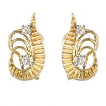 Boucles d\'oreilles vintages diamants
