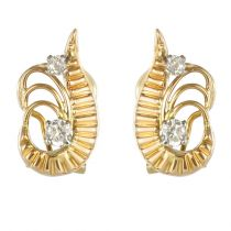 Boucles d\'oreilles vintages diamants