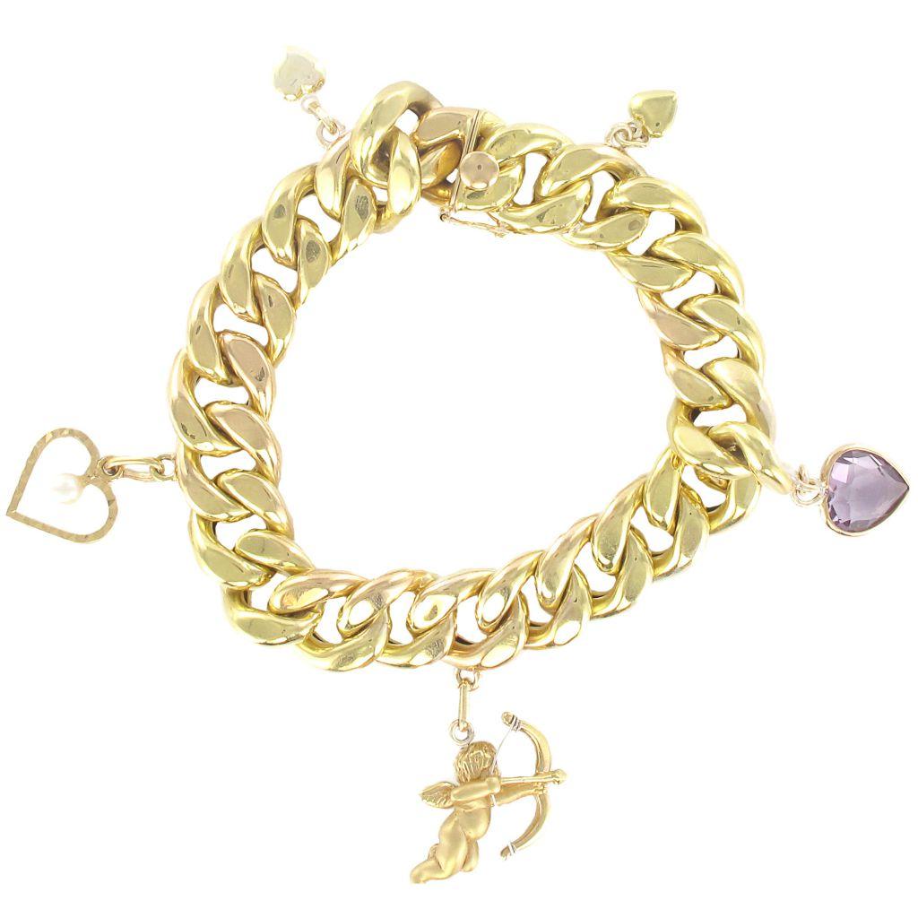 bracelet breloques en or bracelet charms or bijouxbaume. Black Bedroom Furniture Sets. Home Design Ideas