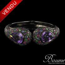 Bracelet améthystes, saphirs, rubis et péridots
