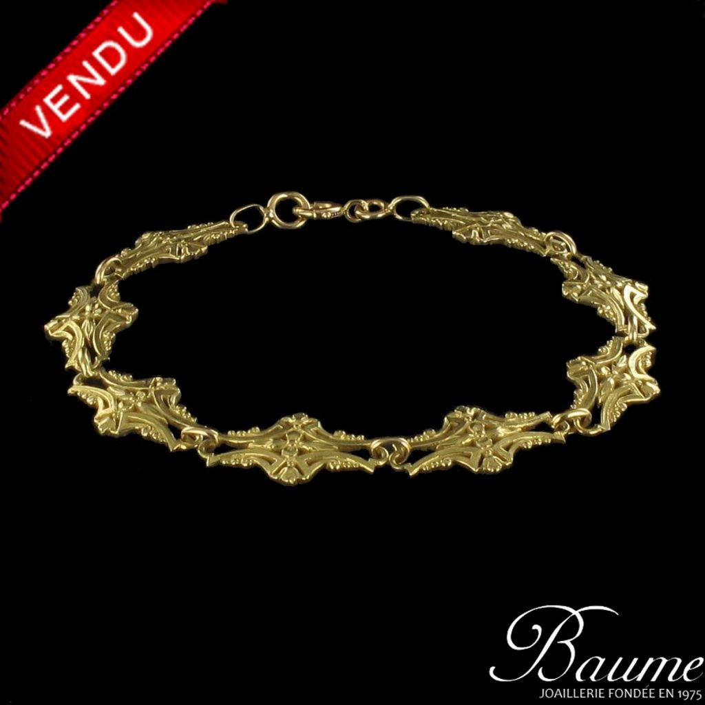 Bracelet ancien à motifs en Or