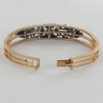Bracelet ancien diamants et perle fine
