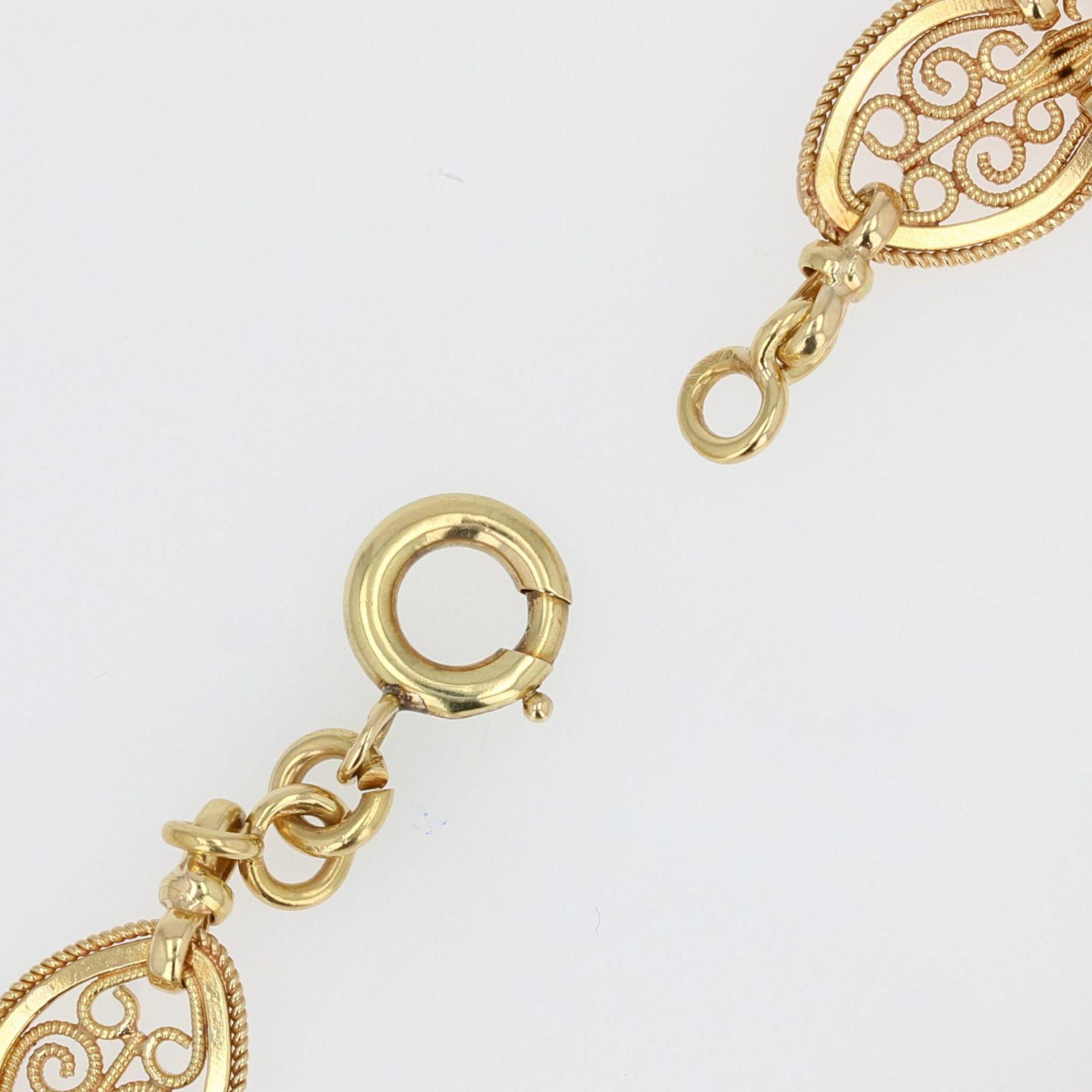 Bracelet ancien en or de la Belle époque