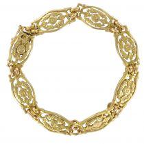 Bracelet ancien en or motifs floraux