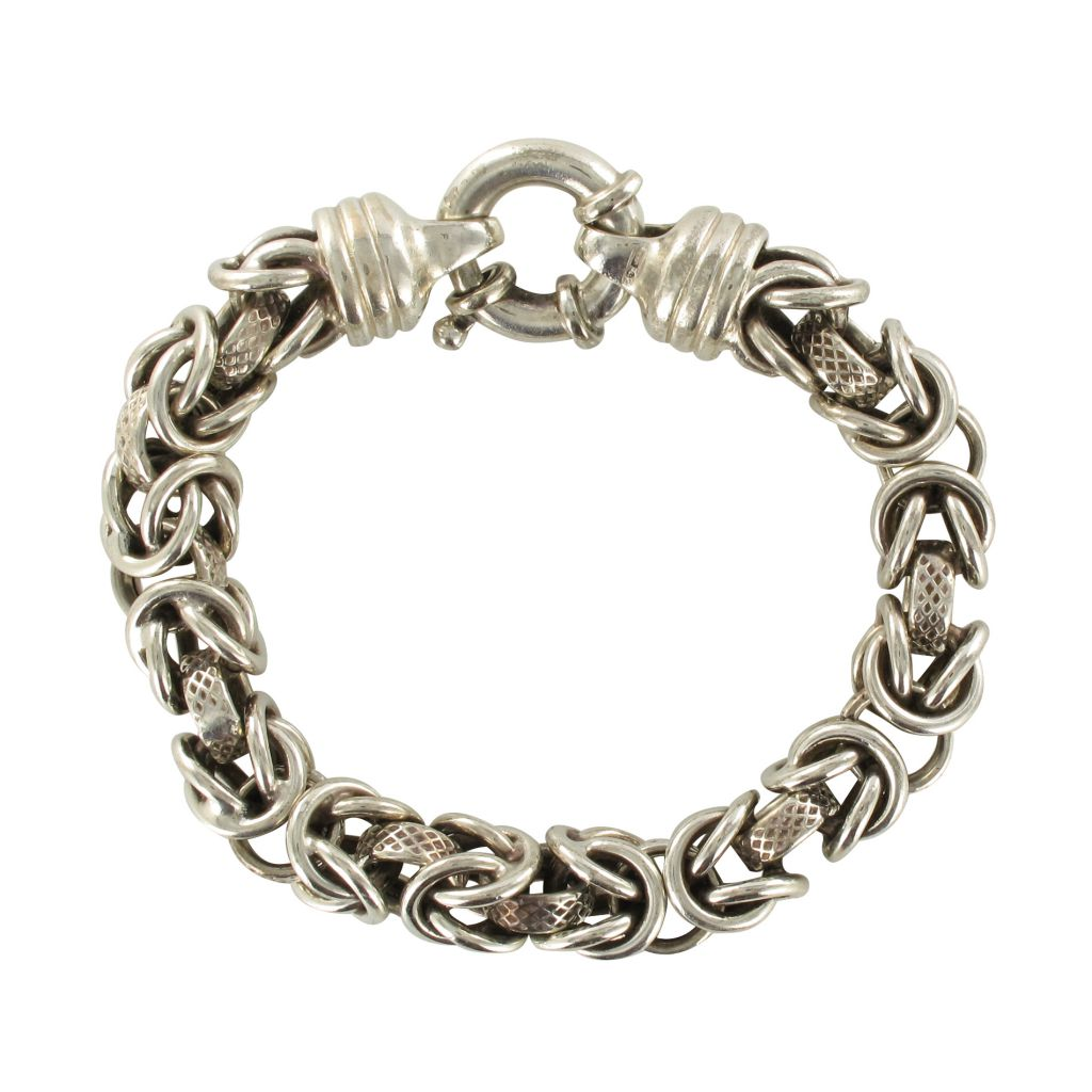 Bracelet ancien gourmette argent
