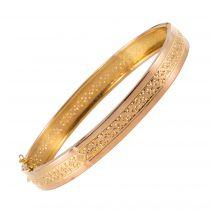 Bracelet ancien jonc or rose ciselé