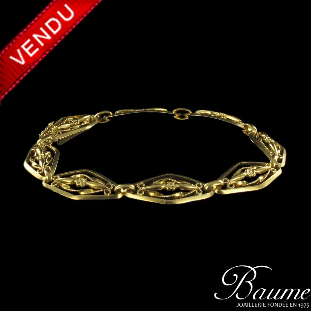 Bracelet ancien maille filigranée