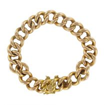 Bracelet ancien maille gourmette or rose