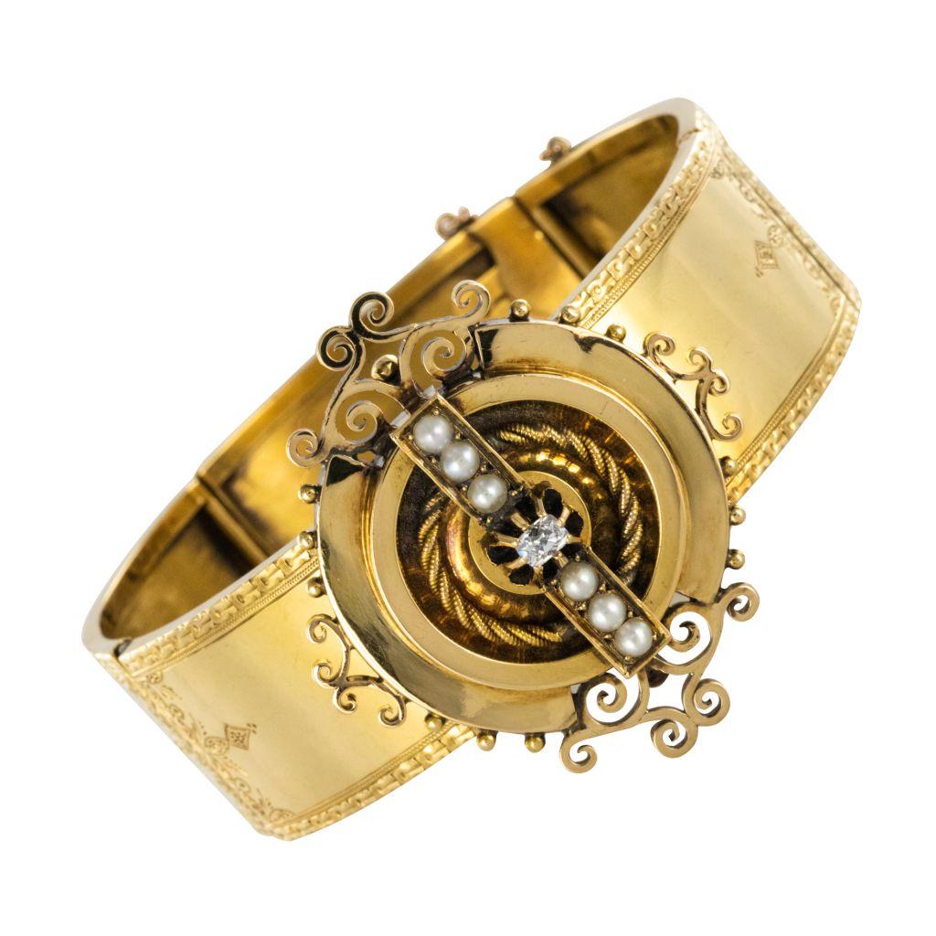 Bracelet ancien or articulé
