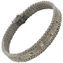 Bracelet ancien or blanc diamants