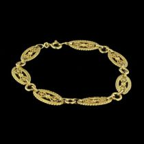 Bracelet ancien or et filigranes