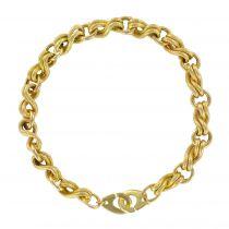 Bracelet ancien or jaune menottes