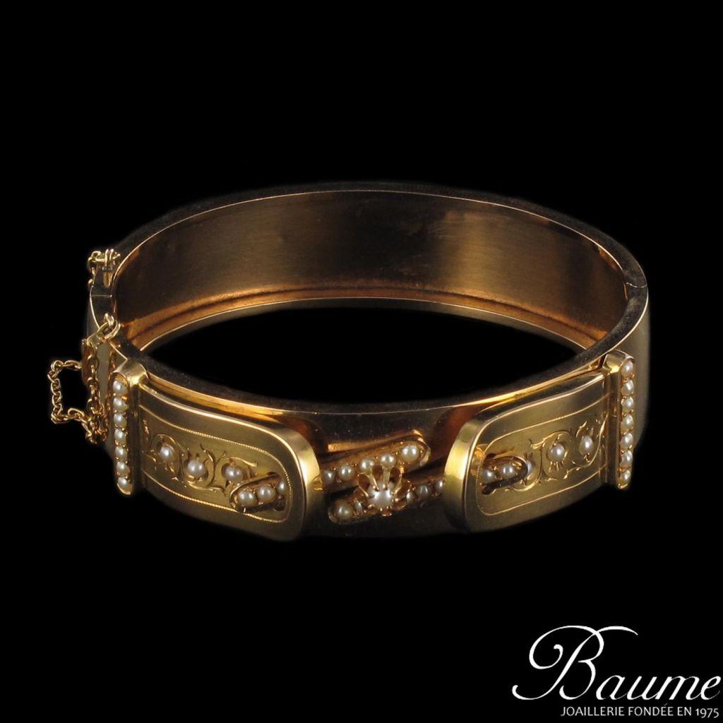 Bracelet ancien perles fines
