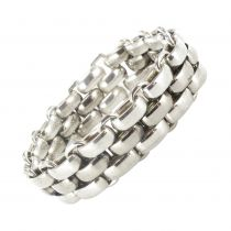 Bracelet argent maille plate