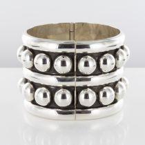 Bracelet argent manchette style Déprès