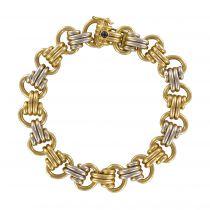 Bracelet Caplain or jaune or blanc