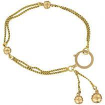 Bracelet chaînes et perles ors jaune et rose