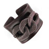 Bracelet cuir et galuchat