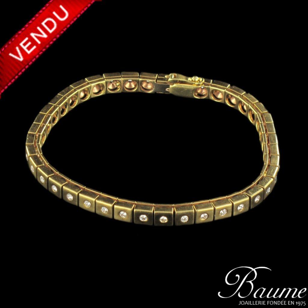 Bracelet diamants ligne articulée