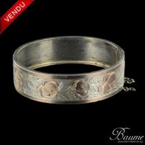 Bracelet en argent et or
