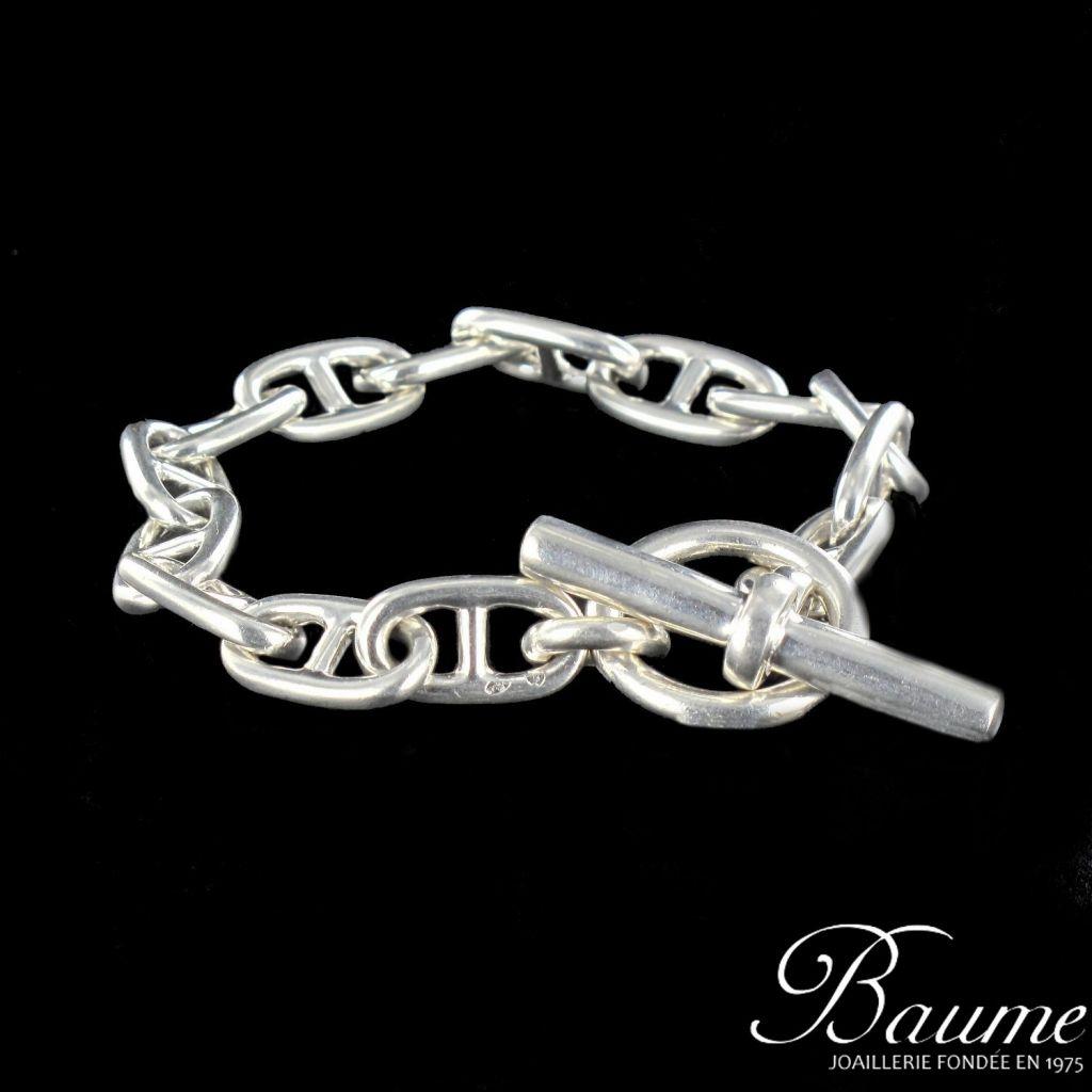 bracelet argent maille marine bijouxbaume. Black Bedroom Furniture Sets. Home Design Ideas