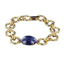 Bracelet en or et cabochon de sodalite