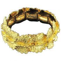 Bracelet en or feuilles