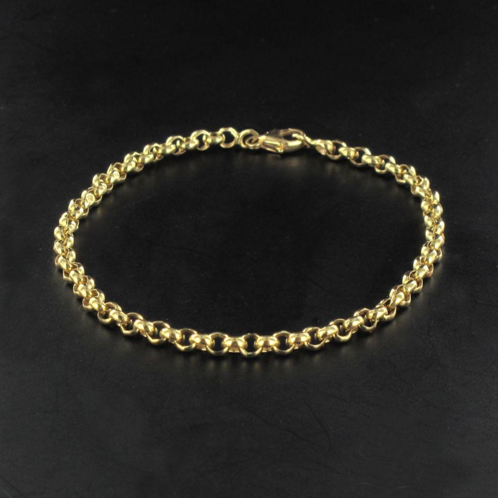 Bracelet en or jaseron
