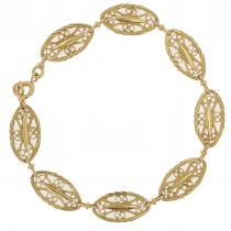 Bracelet en or jaune filigranes