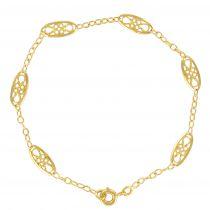 Bracelet en or jaune maille filigranée