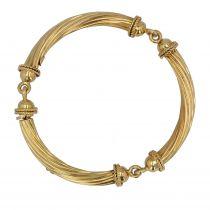 Bracelet en or jonc articulé