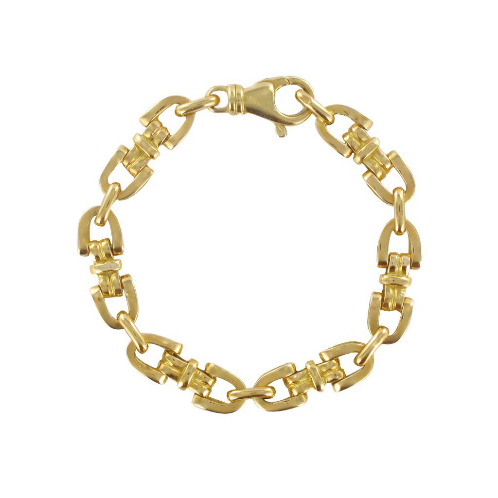 Bracelet en or maille étrier