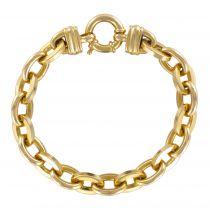 Bracelet en or maille ovale