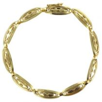 Bracelet en or motif ajouré