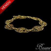 Bracelet en or motifs ajourés