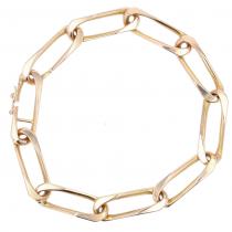Bracelet en or rose maille figaro torsadée