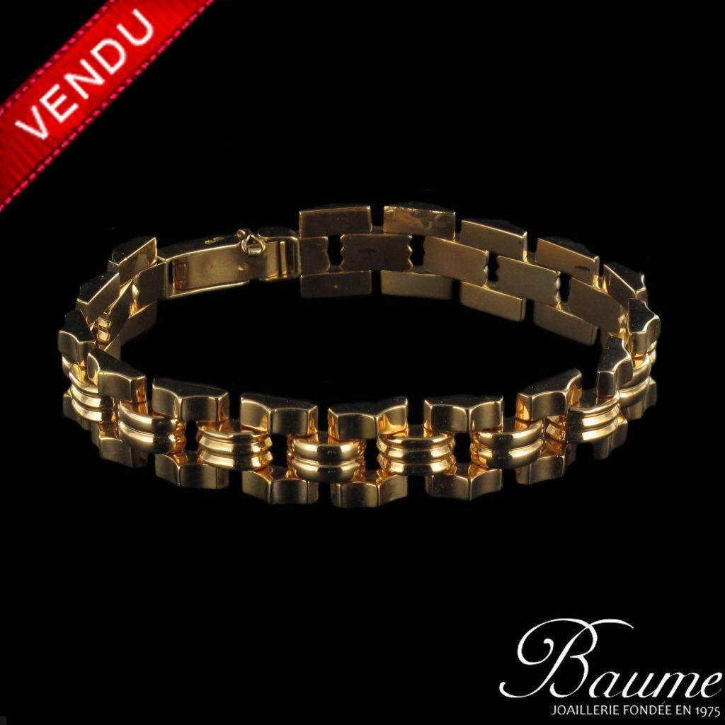 Bracelet en or tank