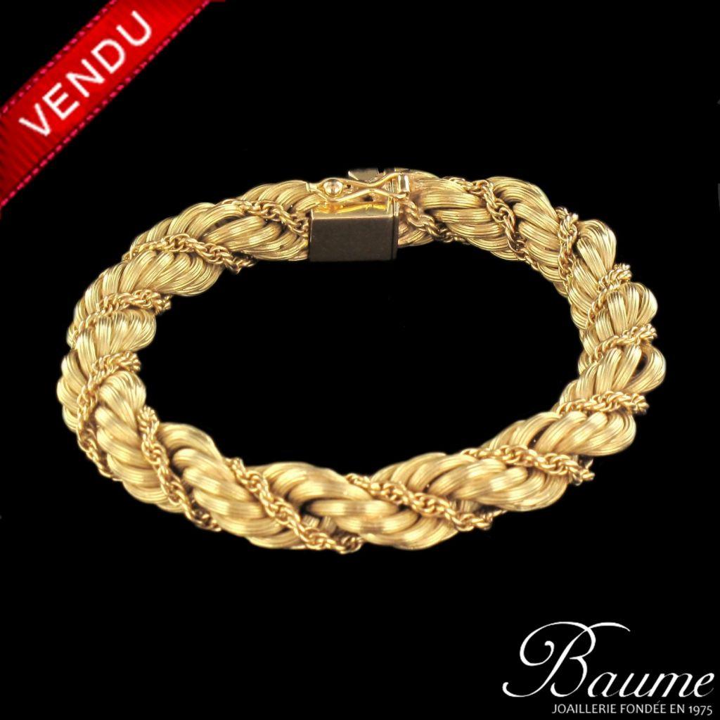 Bracelet en or torsadé