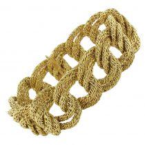 Bracelet en or tresses