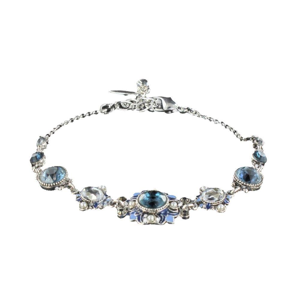Bracelet fantaisie, Cristal de Swarovski, Perles et Email